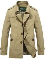 HengJia Men's Casual Field Coat Fashion Cotton Outerwear Jacket Large