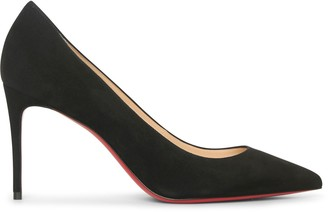 Christian Louboutin Kate 85 black suede pumps