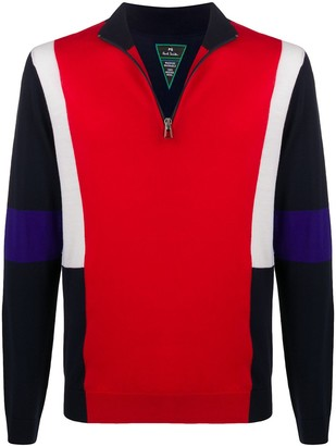 Paul Smith Colour-Block Knitted Jumper