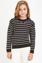 Forever 21 Girls Embellished Stripe-Patterned Sweater (Kids)