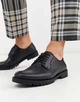 New Look faux leather chunky derby in black