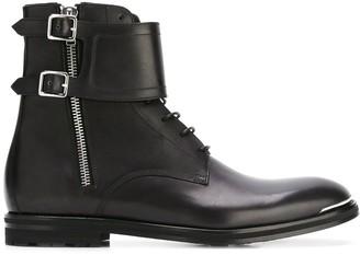 Alexander McQueen Double Buckle Boots