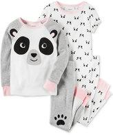 Carter's 4-Pc. Panda Cotton Pajama Set, Baby Girls (0-24 months)