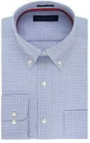 Tommy Hilfiger Men's Non Iron Regular Fit Check Button Down Collar Dress Shirt