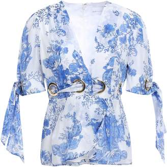 Alice McCall Only Everything Wrap-effect Floral-print Cotton And Silk-blend Gauze Blouse