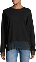 Cheap Monday Net-Trim Pullover Sweater, Black