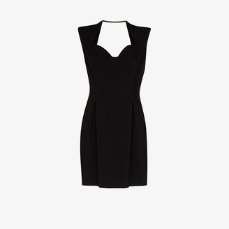 Versace Sweetheart neckline dress