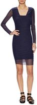 Opening Ceremony Ruched Mesh Sheath Dress