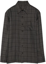 The Elder Statesman Plaid Cashmere Shirt - Anthracite