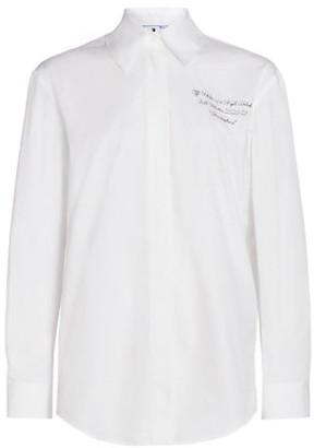 Off-White Basic Atmosphere Poplin Shirt