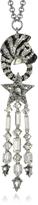 Roberto Cavalli Zebra & Stars Pendant Necklace w/Crystals