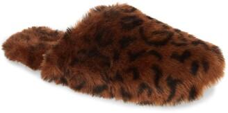 Madewell Animal Print Faux Fur Slipper