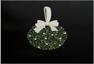 The Holiday Aisle Mistletoe Me Handwoven Black/Green Rug Rug Size: Rectangle 3' x 5'