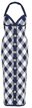 Balmain Midi plaid dress
