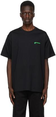 Burberry Black Aaron Slogan T-Shirt