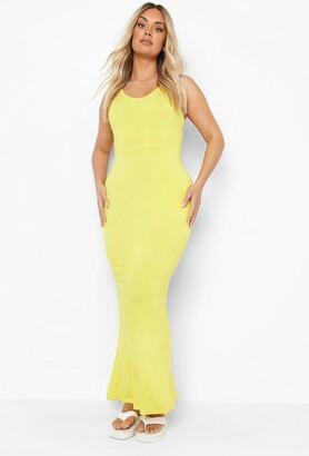 boohoo Plus Scoop Neck Maxi Dress