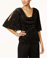 R & M Richards Draped Split-Sleeve Top