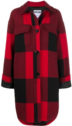 Moschino Check Shirt Coat