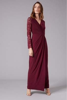 Phase Eight Womens Red Elanor Lace Bridesmaid Maxi Dress - Red