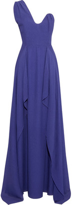 Roland Mouret Kimberworth One-shoulder Draped Silk-crepe Gown