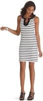 White House Black Market Sleeveless Grommet Neckline Shift Dress