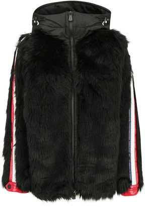 MONCLER GRENOBLE Stripe Trim Hooded Jacket