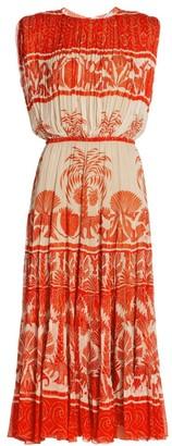 Johanna Ortiz Cordillera Gathered Midi Dress