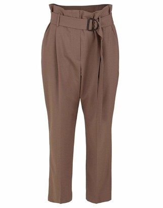 Brunello Cucinelli Tropical Wool D-Ring Belt Pant