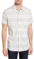 Grayers Men's Gramercy Trim Fit Stripe Chambray Sport Shirt