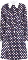 Carven Navy Twill Button-Front Dress