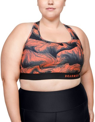Under Armour Women's Armour Mid Crossback Print Sports Bra