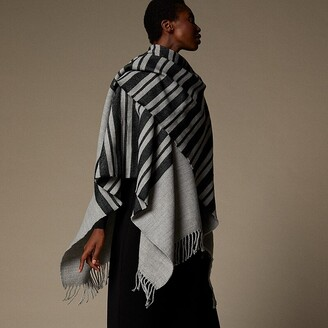 Love & Lore Love And Lore Variegated Stripe Wrap Grey Heather