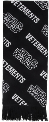 Vetements Black and White STAR WARS Edition All Over Logo Scarf