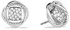 David Yurman Women's Infinity Earrings with Diamonds