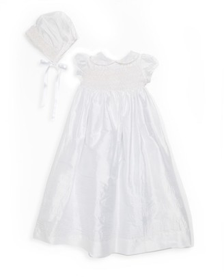 Isabel Garreton Baby's 2-Piece Heirloom Silk Christening Gown & Bonnet Set
