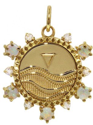 Foundrae Water Badge Element Medallion - Yellow Gold