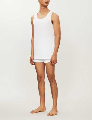 HUGO BOSS Regular-fit pack of three cotton-jersey tank tops
