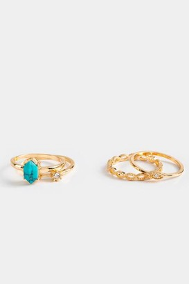 francesca's Esme Ring Set - Turquoise