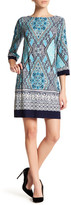 Sandra Darren Long Bell Sleeve Dress (Petite)