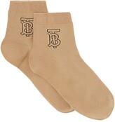 Burberry Logo Embroidered Socks