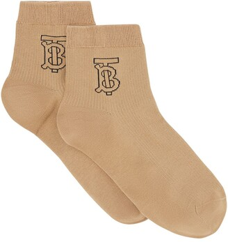 Burberry Logo Embroidered Socks