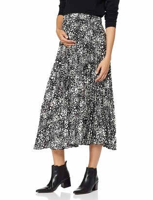 New Look Maternity Women's Mixed Animal Pleat Skirt