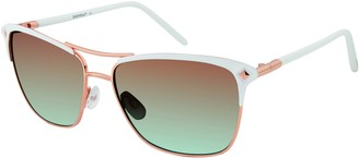 Southpole Women's 448SP Rectangular Sunglasses with 100% UV Protection 64 mm