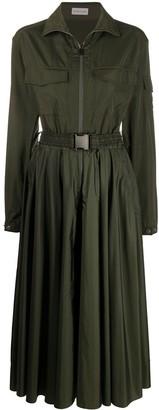 Moncler Buckle Waist Midi Dress