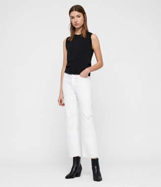 AllSaints Helle Crop Kickflare Jeans
