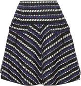 Oscar de la Renta Jacquard wool-blend skirt