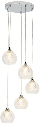Riley 5 Light Textured Glass Cluster Pendant