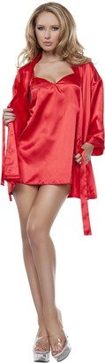 Starline Women's Satin Babydoll with Matching Robe