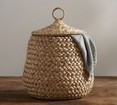 Pottery Barn Beachcomber Lidded Tulip Basket
