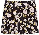 Marni KIDS' FLORAL CADY PLEATED SKIRT